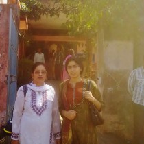 JusticeMaker Garima Tiwari (right) and Ms. Nikhat Ali, an experienced lawyer, at the juvenile justice board in Bhopal, India.
