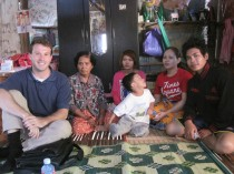 Kosal at Home with His Family in Kandal Province