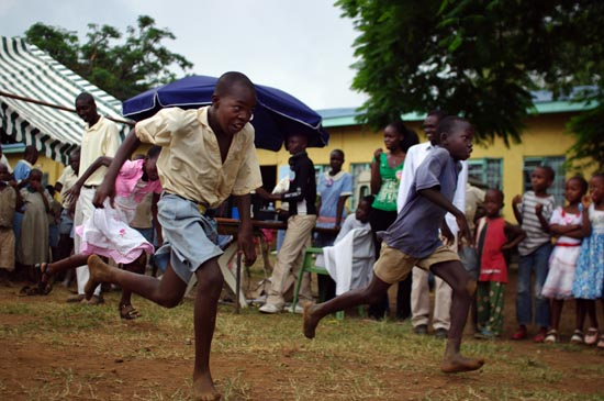 Games During the Day of the African Child Celebrations at Kisumu Children's Remand Home