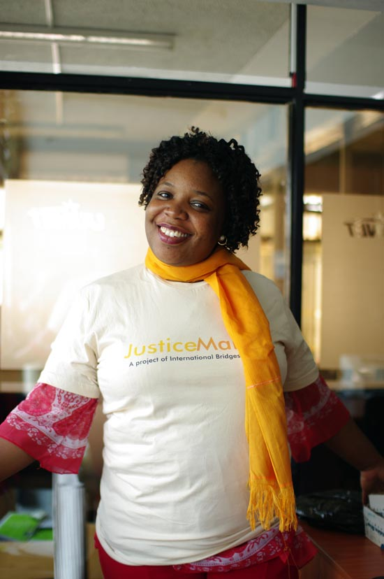 JusticeMaker Joy Mdivo at the CLEAR Kisumu Office
