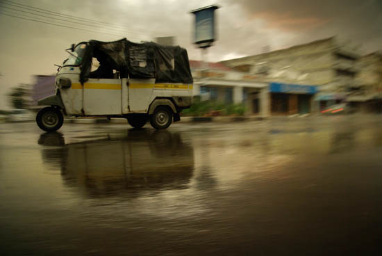 Main Street Kisumu During a Rain Storm
