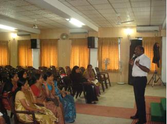 Sanjeewa Liyange, International Program Director IBJ, Geneva speaking in Mahe Event