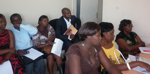 Above: Rwandan Lawyers meet at the DRC to discuss challenges and solutions they face in the provision of legal aid