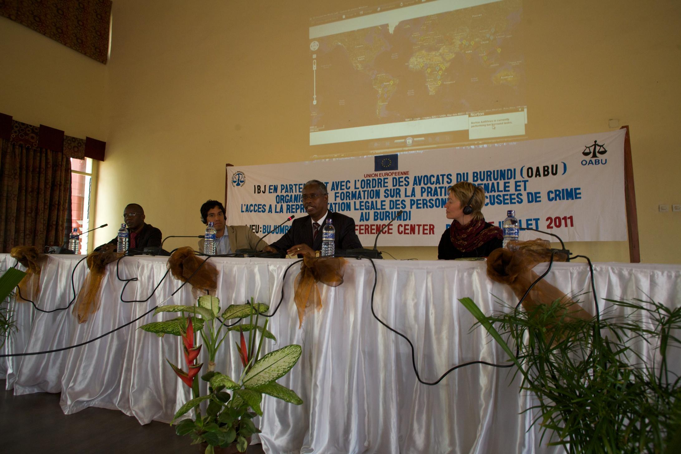 Opening speech by Batonnier de l ordre des avocats du Burundi of