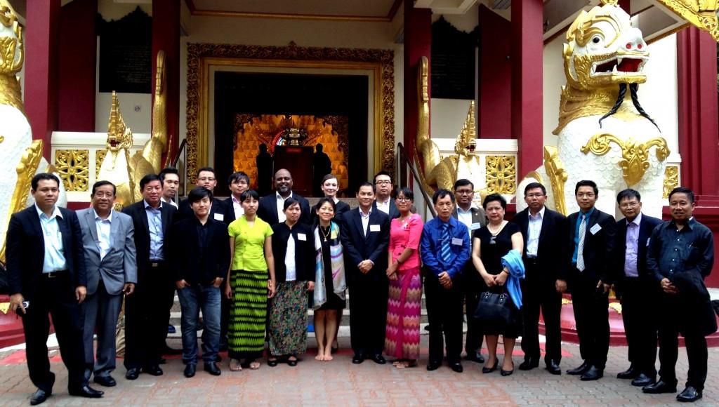Participants à la formation de Myanmar Singapore