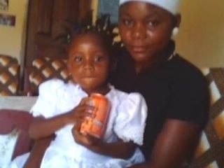 Diama and her daughter Ezima.