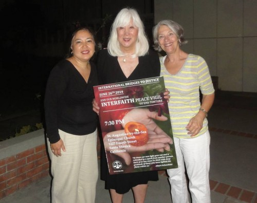 Guest Speaker and Founding IBJ Board Member Mia Yamamoto with local organizers Judith Lyons and Charlene Huang in Santa Monica, California
