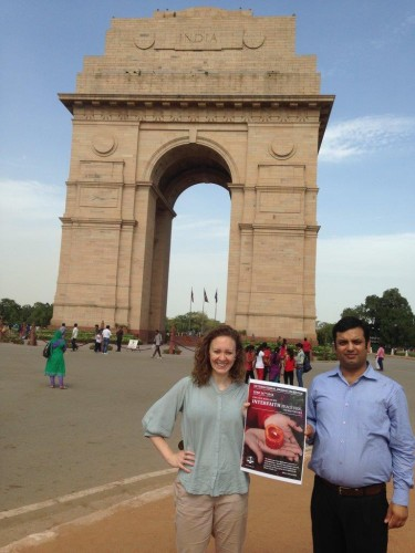 IBJ India Fellow, Ajay Verma and IBJ staff member Courtney Skiles in New Delhi, India