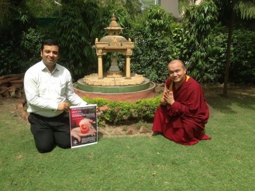 IBJ India Fellow Ajay Verma at a Tibetan temple in Delhi, India