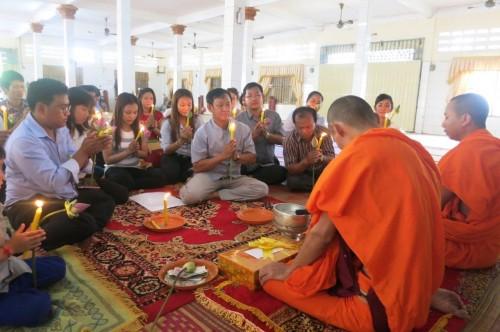 Vigil in Phnom Penh, Cambodia