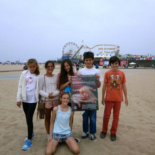 Youth raising awareness in Santa Monica, California