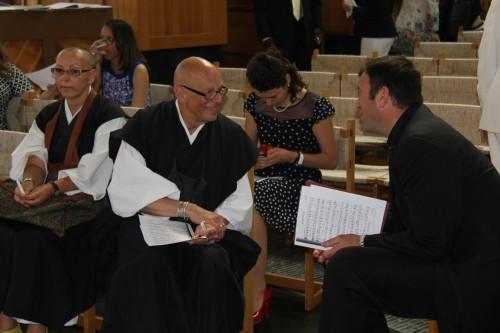 Maria Teresa Avila Shogetsu, Vuillemin Vincent Keisen, and Reverend Richard Gyhra