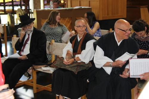 Rav Dr. Izhak Dayan, Maria Teresa Avila Shogetsu, and Vuillemin Vincent Keisen
