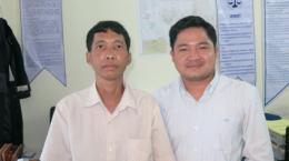 M. Kheng et Nou Chandeth, un avocat d'IBJ