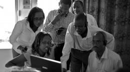 Burundian Lawyers following one of IBJ's  eLearning Module