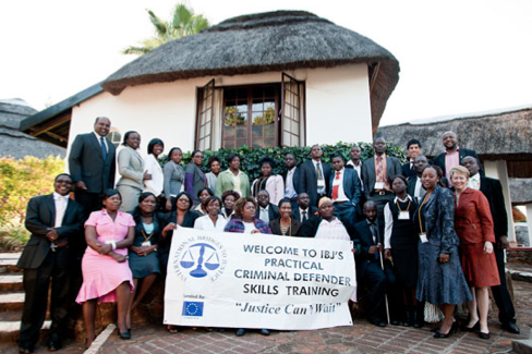 IBJ's first lawyer training in Bulawayo, Zimbabwe's 2nd largest city, in May 2011