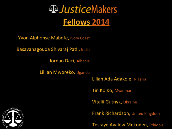 JusticeMakers Fellows 2014