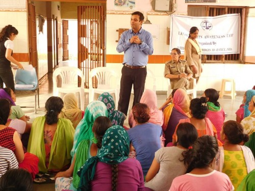 Legal Awareness Camp organized by IBJ India for women prisoners, held at Central Tihar Jail No. 6, New Delhi