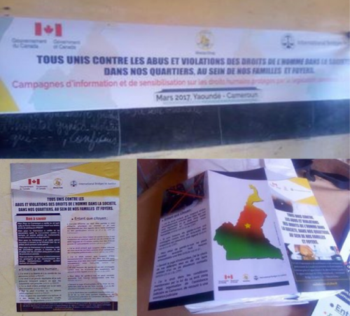 Banners, posters and flyers distributed at the awareness campaigns
