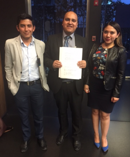 Ernesto Gutiérrez and his collegues in the creation of IBJ Mexico.
