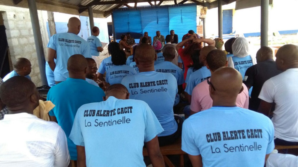 During the training with the male detainees organised with CACIT (le Collectif des Associations Contre l'Impunité au Togo).