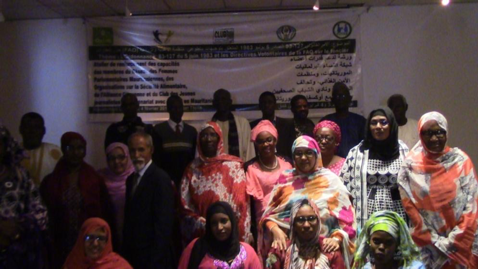 Papa Amadou together with the people of Nouakchott.