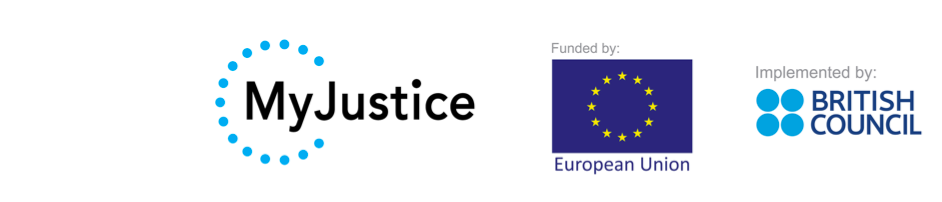 IBJ and MyJustice Logo