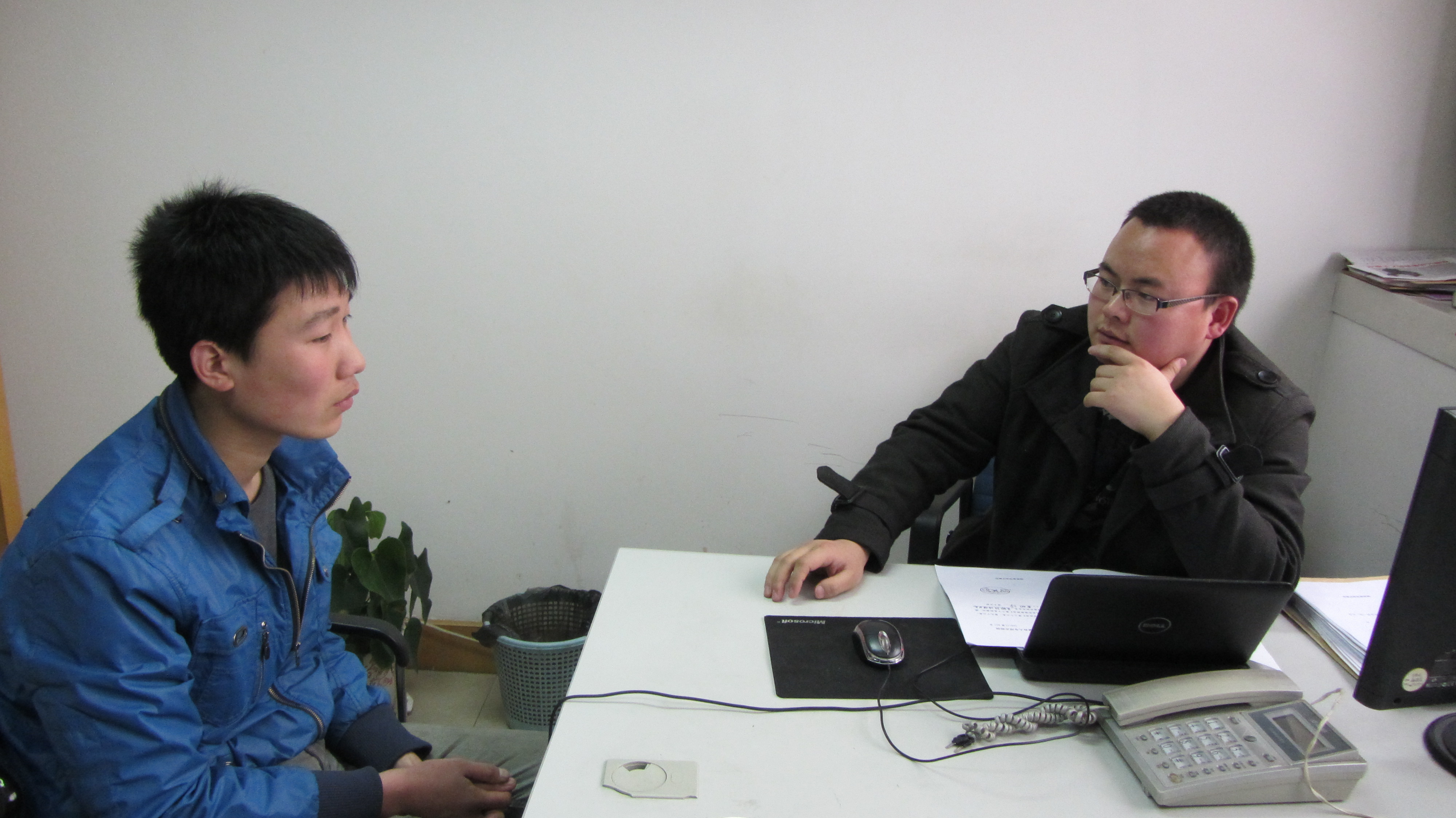 Attorney Zhu with Duty Lawyer Juvenile Client, Fei Pengpeng