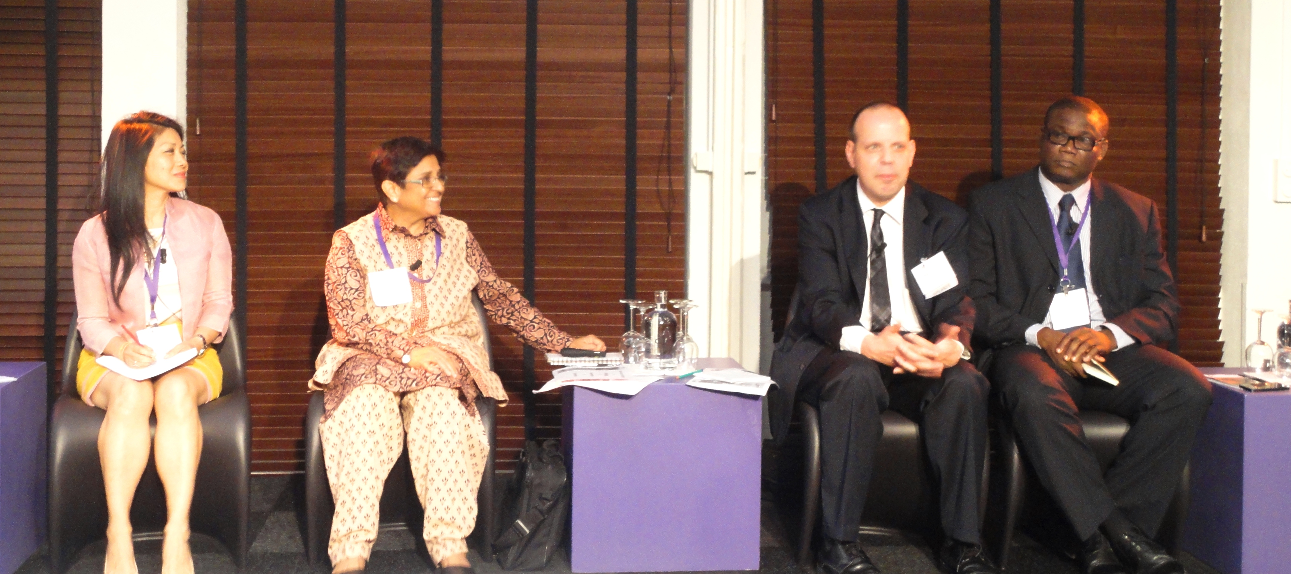 Panellists and moderator for the Security and Law Enforcement Panel