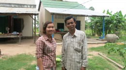 Sim Dalis, DRC Coordinator and client, Sok Chea