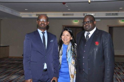 IBJ's Founder and CEO, Karen Tse, with RBJ Country Manager John Bosco Bugingo and President of the Rwanda Bar Association Julien- Gustave Kavaruganda