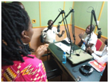 During the radio campaign