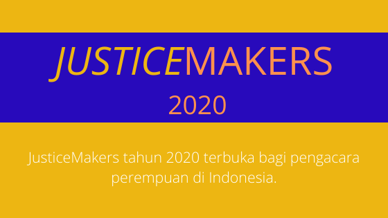 2020 Women JusticeMakers Competition – Indonesia